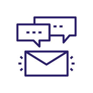 icon chat by email