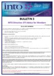2019-20: Bulletin 3 – INTO Directive: ETI Advice to Members