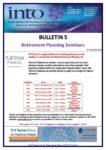 2019-20: Bulletin 5 – Retirement Planning Seminars